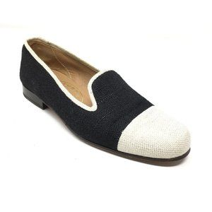Stubbs & Wootton Loafers Flats Size 6 Black White